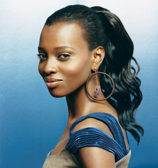 black women updo hairstyles : ponytail hairstyles for black girls French Fashions