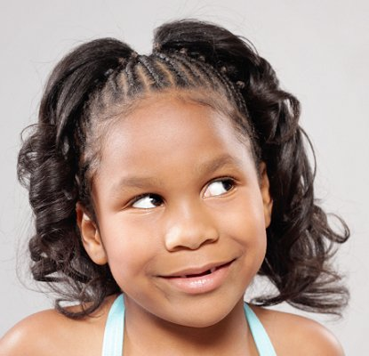 ponytail hairstyles for black girls French Fashions