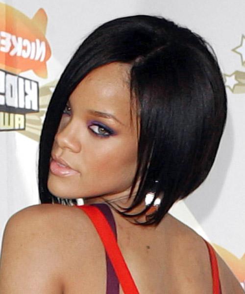 Rihanna Bob Haircuts Front And Back View Hairstyle