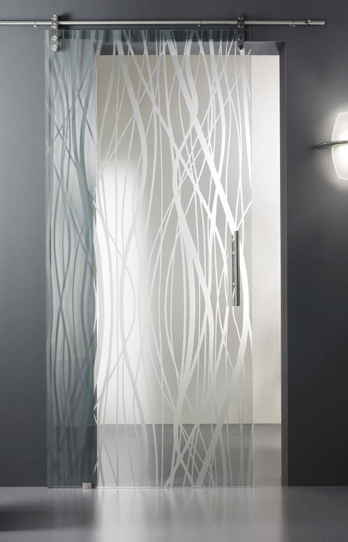 Acid Etched Glass Doors French Fashions